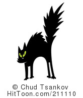 KITTENS clipart scared   Black Clipart Scared