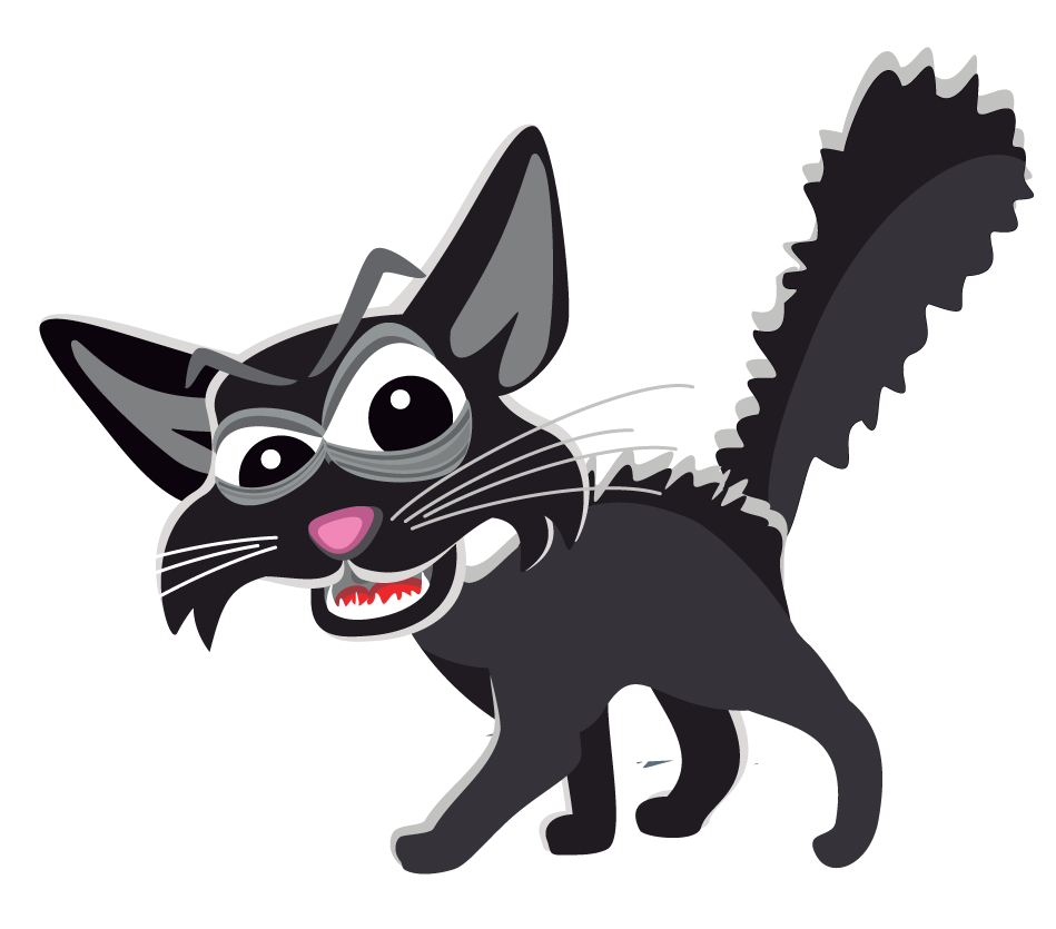 Black Cat clipart scared Search Clip clipart Scary Black