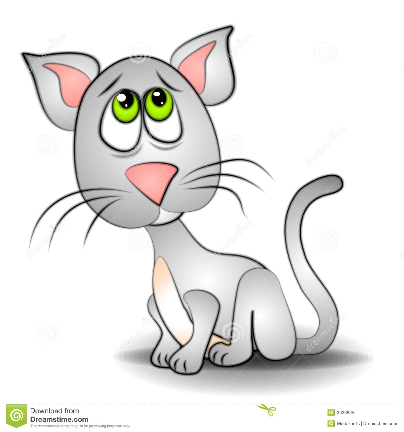 KITTENS clipart scared Download Cat Sad Clipart Cat