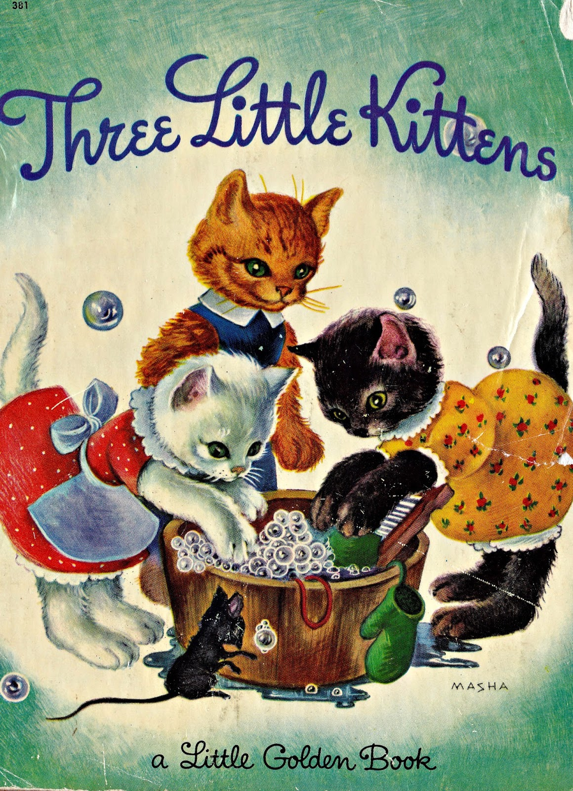 KITTENS clipart shy  Young: Vintage the Little