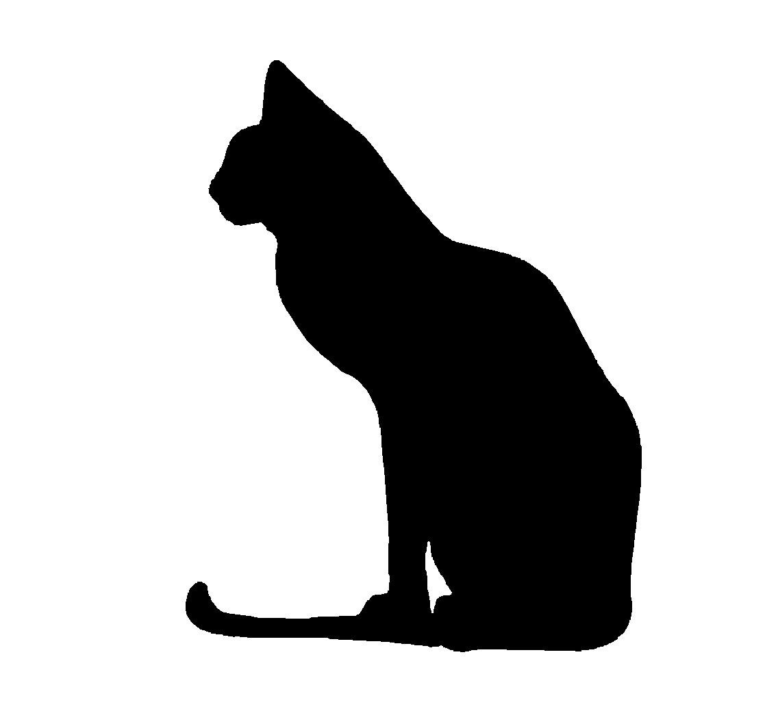 KITTENS clipart silhouette Art Clip Free Cliparts Silhouette