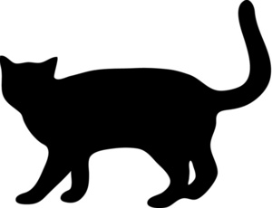 KITTENS clipart silhouette  Free Clip Silhouette Cat