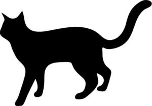 Cat clipart cat outline Com silhouette pdclipart cat free