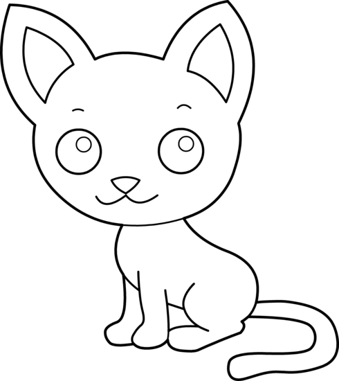 Pet clipart coloring picture Cat Page transparent Kitty Coloring
