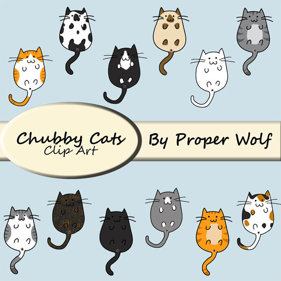KITTENS clipart simple cat Kitten Breeds Clipart Cats Chubby