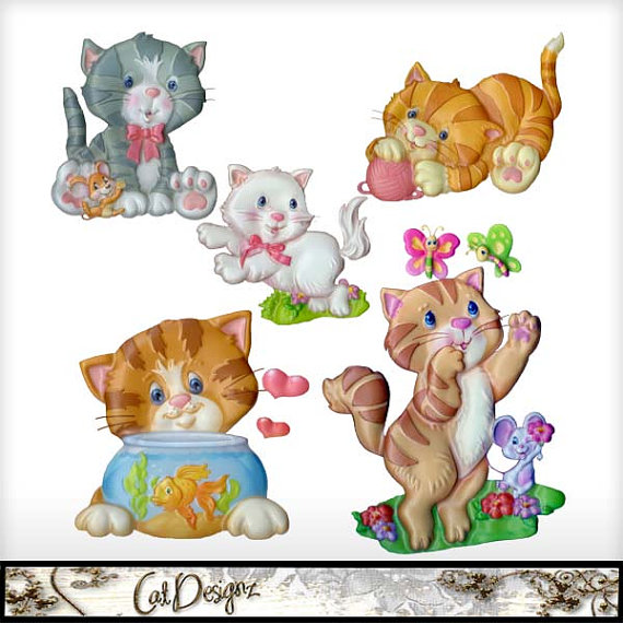 KITTENS clipart simple cat Instant Resource Clipart Clipart Kitten