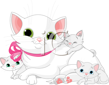 KITTENS clipart simple cat Free a Mother Free Royalty