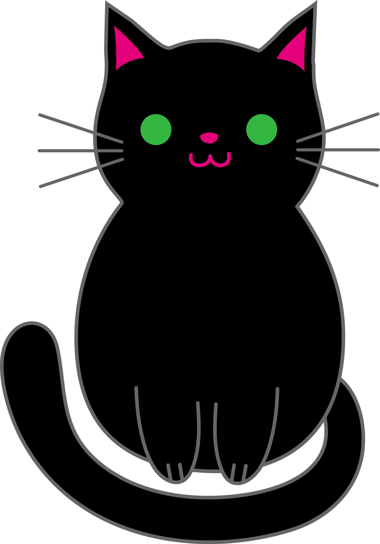 Black Cat clipart cartoon Black Black Art Free Halloween