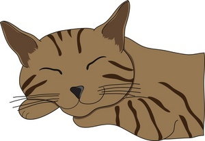 Cat clipart brown Cliparts Cliparts Sleeping clipart Sleeping