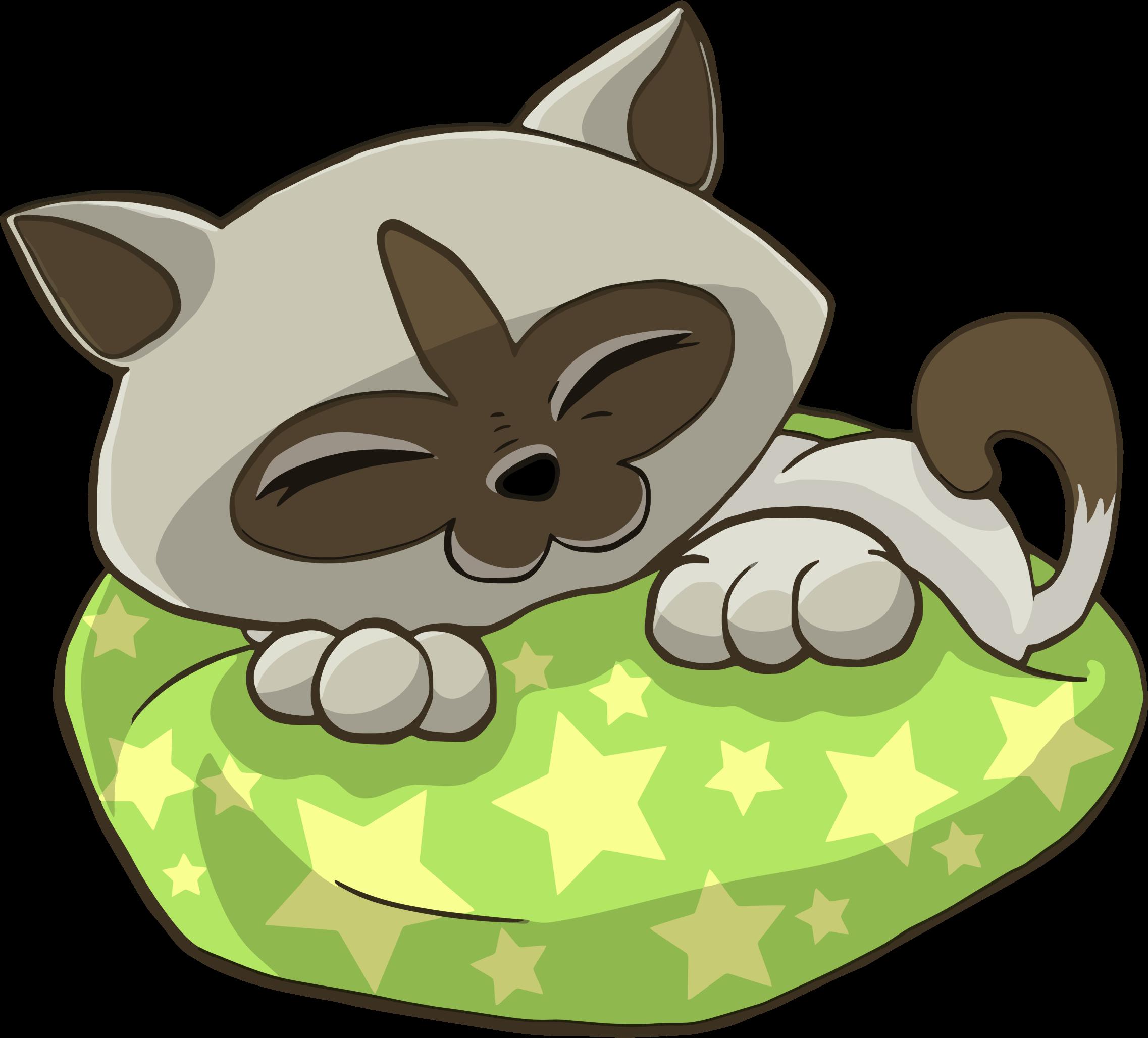 KITTENS clipart sleeping Pillow Starry On Sleeping Pillow