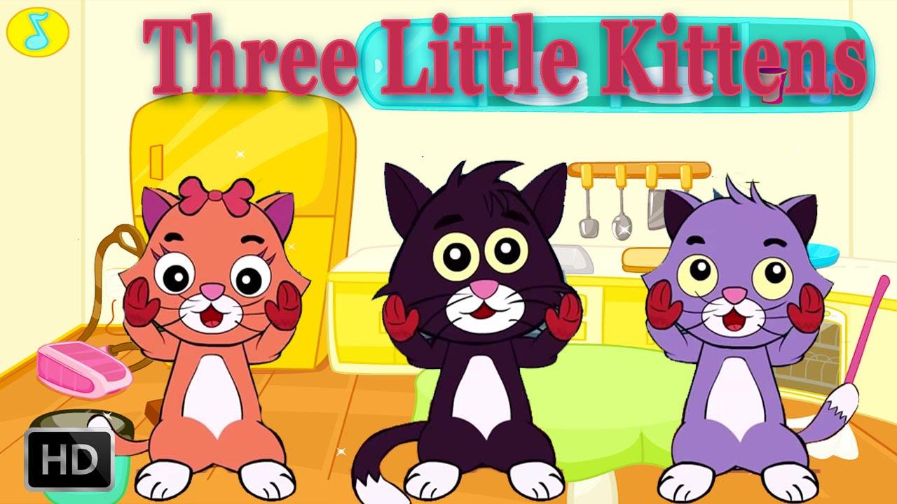 KITTENS clipart three little kitten With Three YouTube  Little