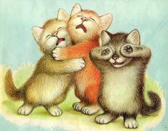 KITTENS clipart three little kitten To  by illustration 1958