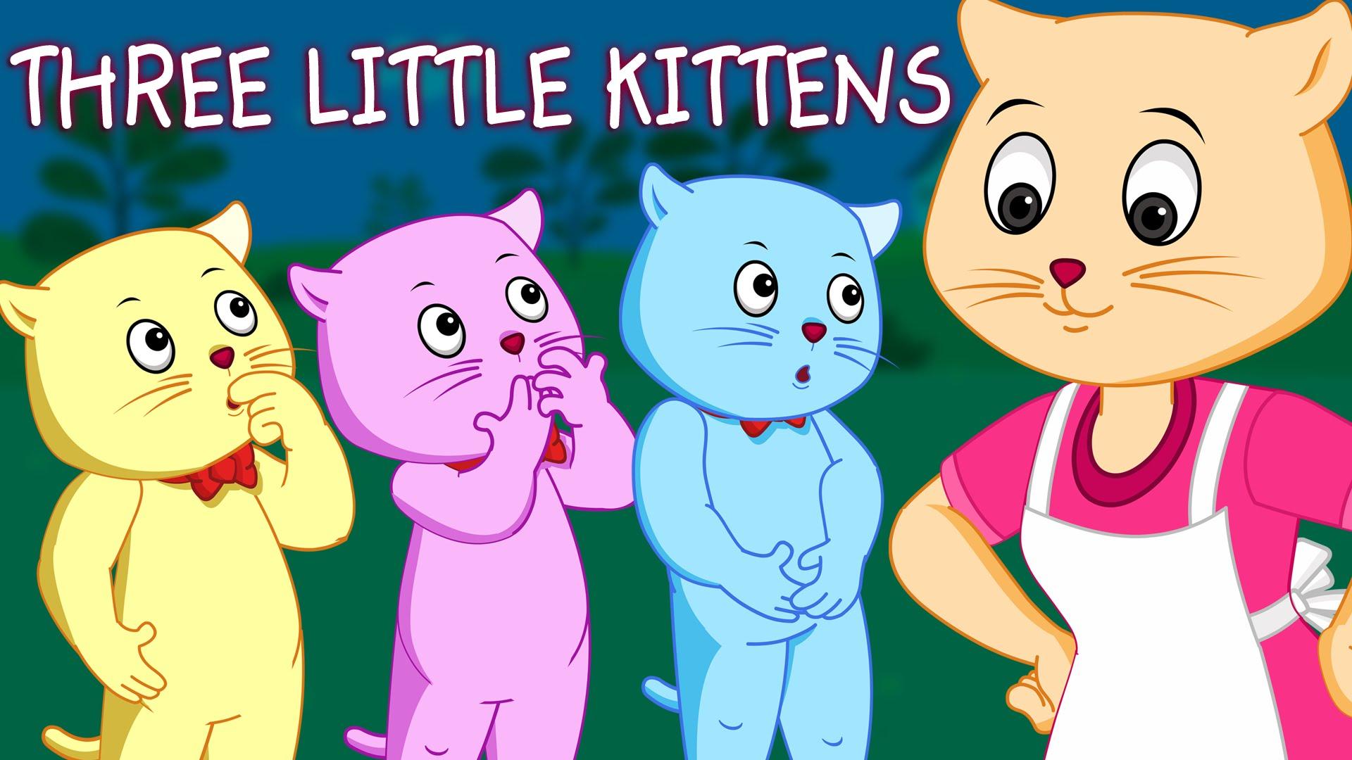 KITTENS clipart three little kitten Songs Little Three  Little