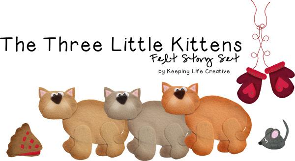 KITTENS clipart three little kitten Three Activities  Life Little