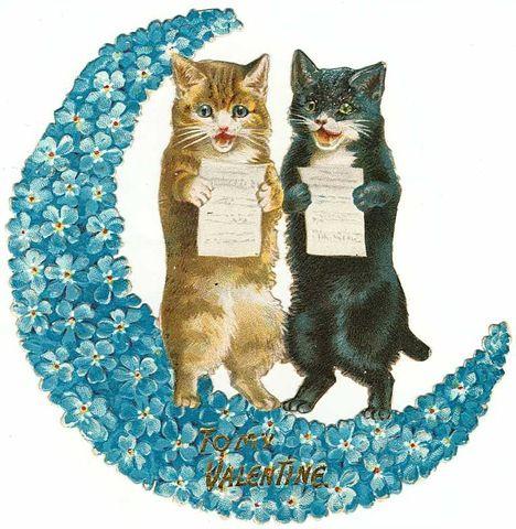 KITTENS clipart valentine About Pinterest vintage Valentines… cat