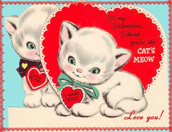 KITTENS clipart valentine About on vintage+kitten+valentine Pinterest and