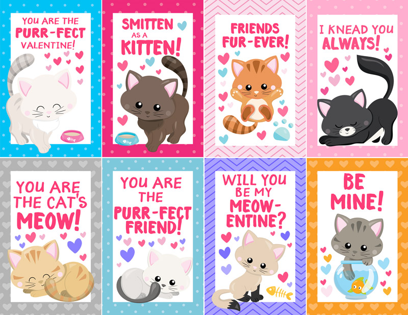 KITTENS clipart valentine Kitten of Free a Scattered