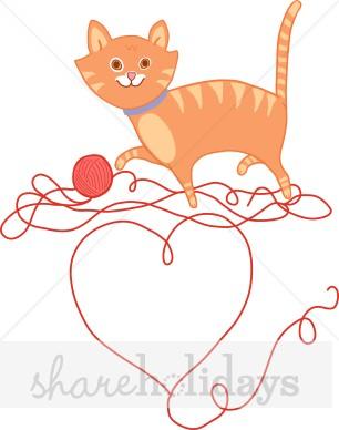 KITTENS clipart valentine Party Valentine & Kitten Clipart
