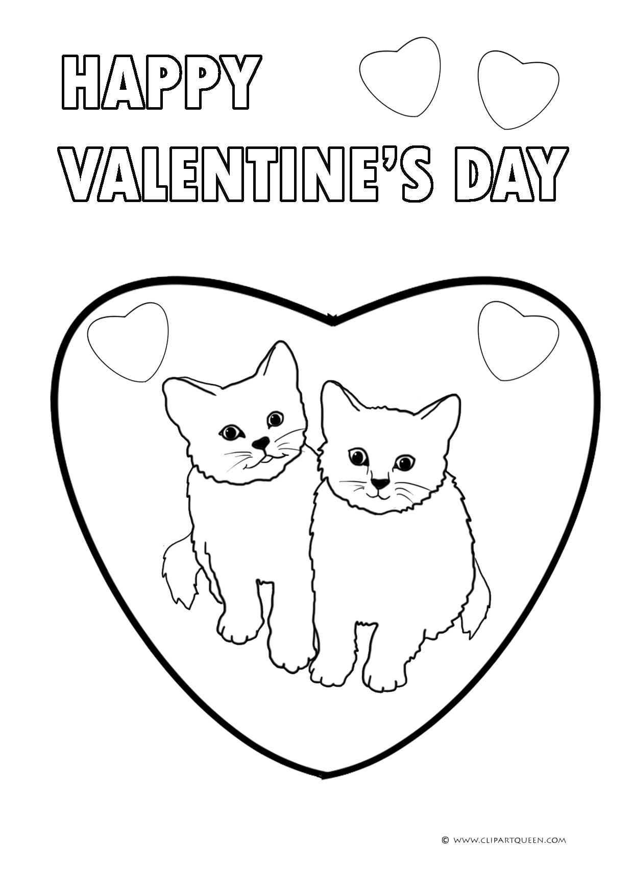 KITTENS clipart valentine's day 11 a day greeting Day