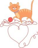 KITTENS clipart valentine's day Valentine Valentine's Backgrounds Valentine Kitten