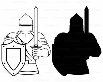 Knight clipart Clipart silhouette Knight svg knight