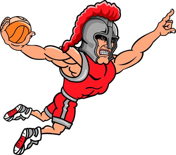 Knight clipart basketball Mascot basketball Customize line sports