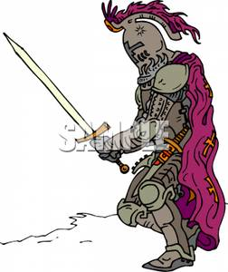 Medieval clipart knight battle For a Holding Ready Crouching