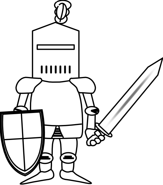 Knight clipart black and white Free Images Clipart Clip Black
