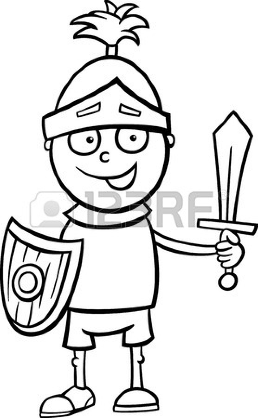 Knight clipart black and white  Panda Knight And Free