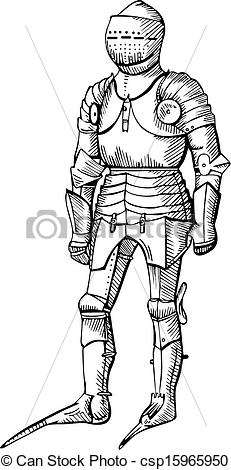 Knight clipart black and white White  Black knight of