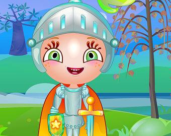 Knight clipart brave kid Knight Illustration Children Brave Poster