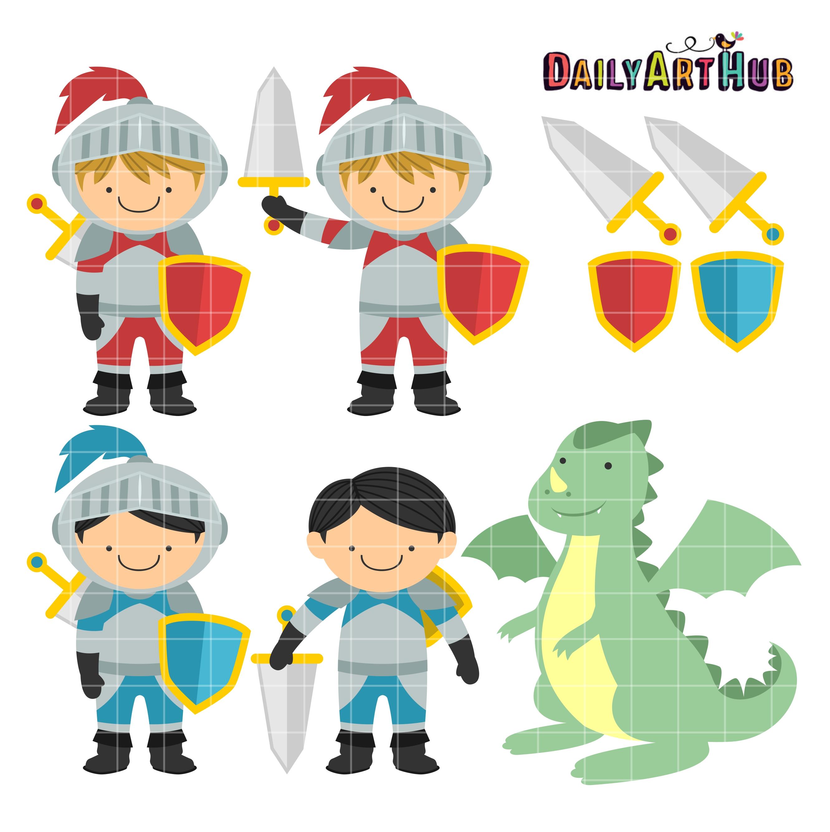 Knight clipart cute knight Clip Hub And Set Knights