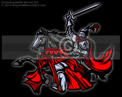 Knight clipart horse logo Knight 0014 Image in 8