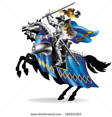 Knight clipart horse logo White on best & on