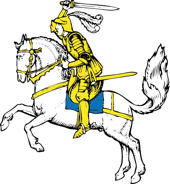 Yellow clipart knight Warrior On vector  this