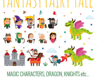 Knight clipart king Clipart/princess/knight/dragon/wizard/king/castle clipart Etsy Knight Fairy