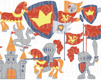 Maiden clipart knights armor And Commercial shining Art Etsy