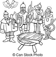 Knight clipart knights the round table Round round metaphor Metaphor of