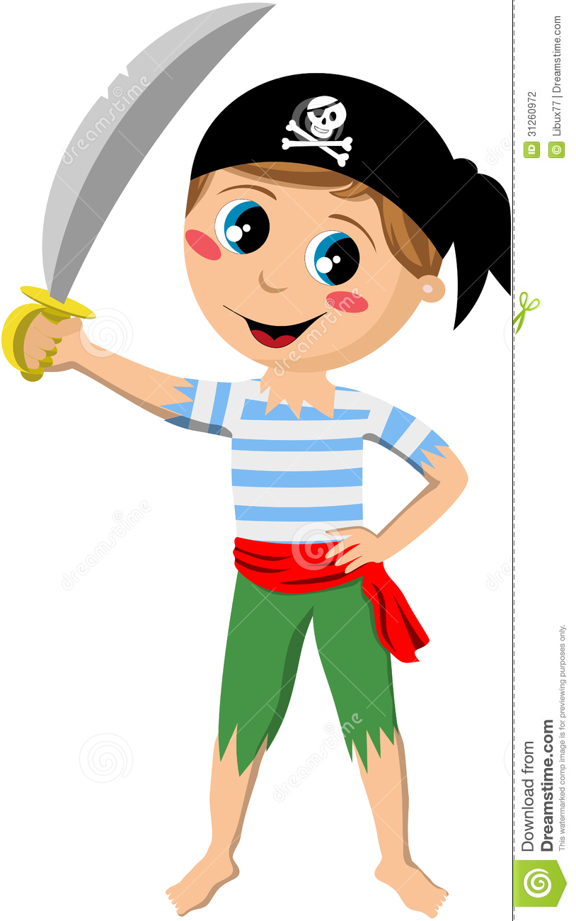 Knight clipart little boy Holding sword Pirate Boy with