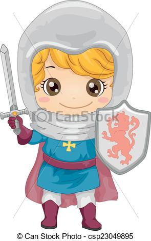 Knight clipart little boy Knight a a Vectors of