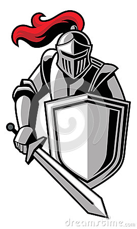 Knight clipart mascot Clip knight your shields vector