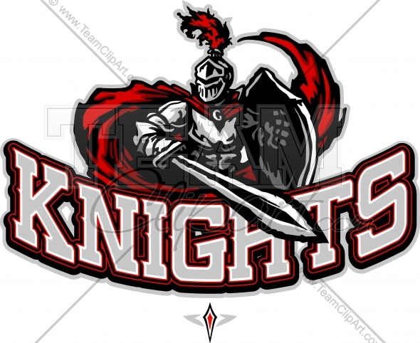 Knight clipart mascot Knights Vector Knights School Logo