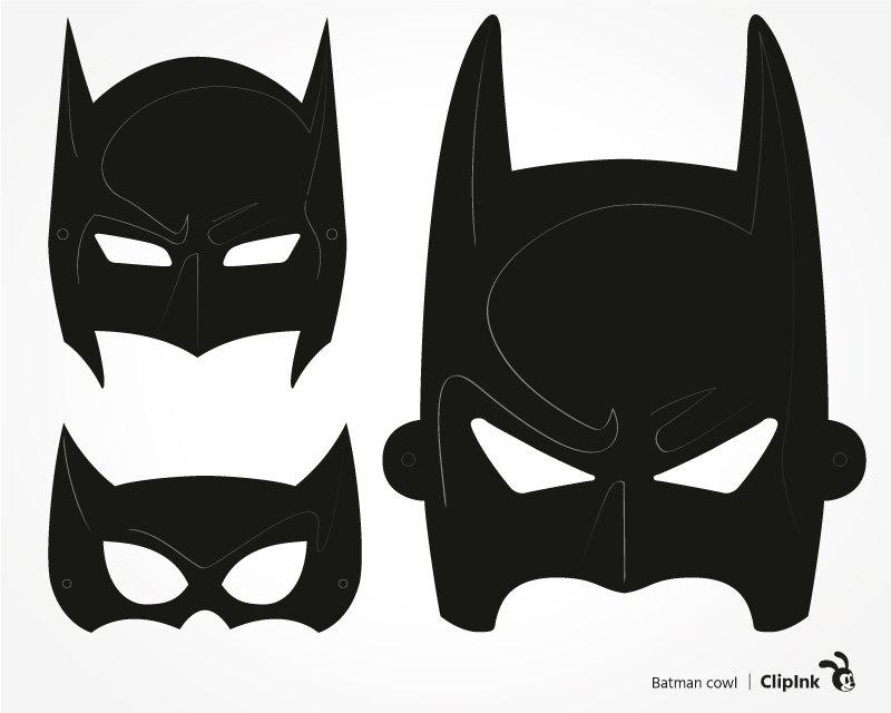 Mask clipart batman mask – download Batman cowl svg