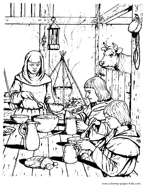 Knight clipart medieval farmer Medieval+coloring+pages & Coloring page on