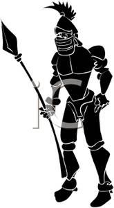 Spear clipart silhouette Clipart Silhouette Knight Spear A