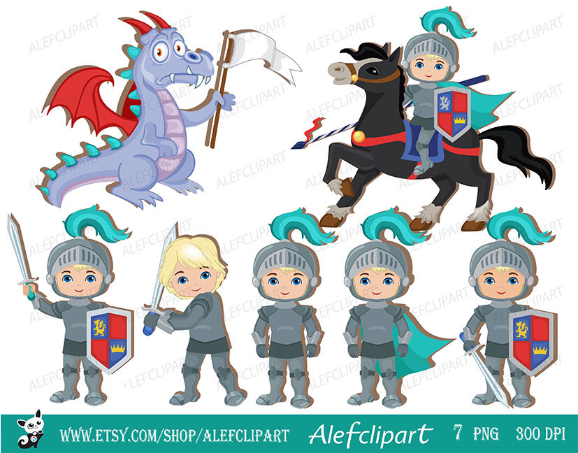 Knight clipart medieval person  Knight Dragon Medieval Clipart