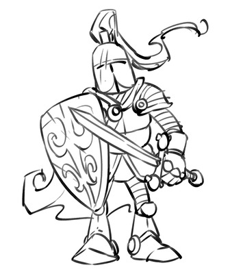 Knight clipart medieval soldier  Image Just Medieval Cartoon