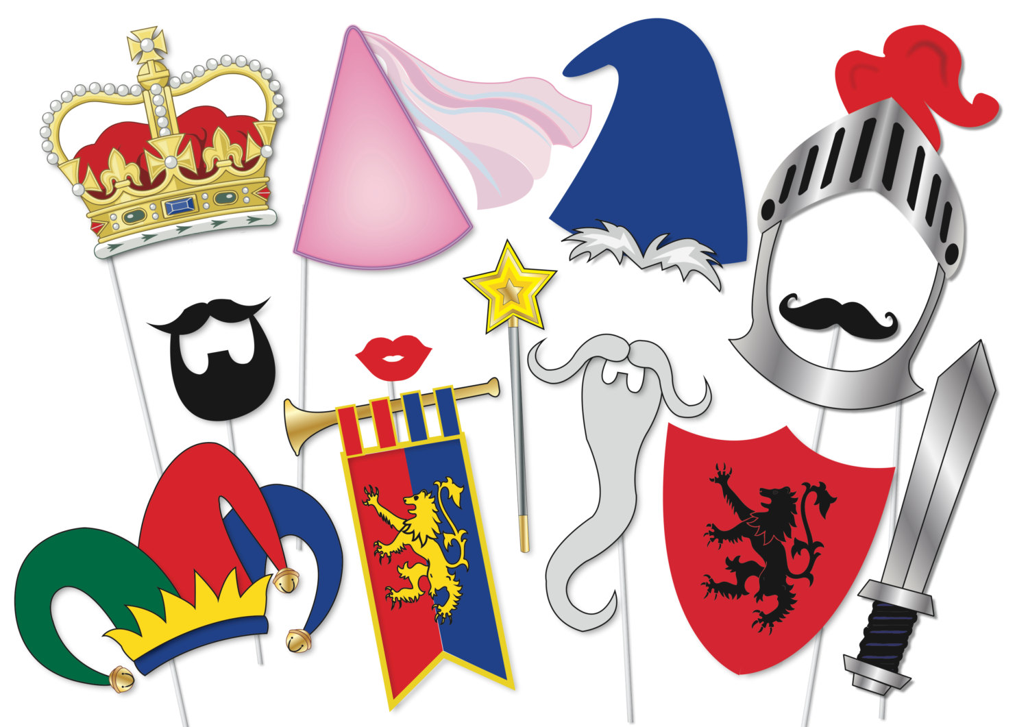 Maiden clipart knights armor Piece PRINTABLE Knight Props princess