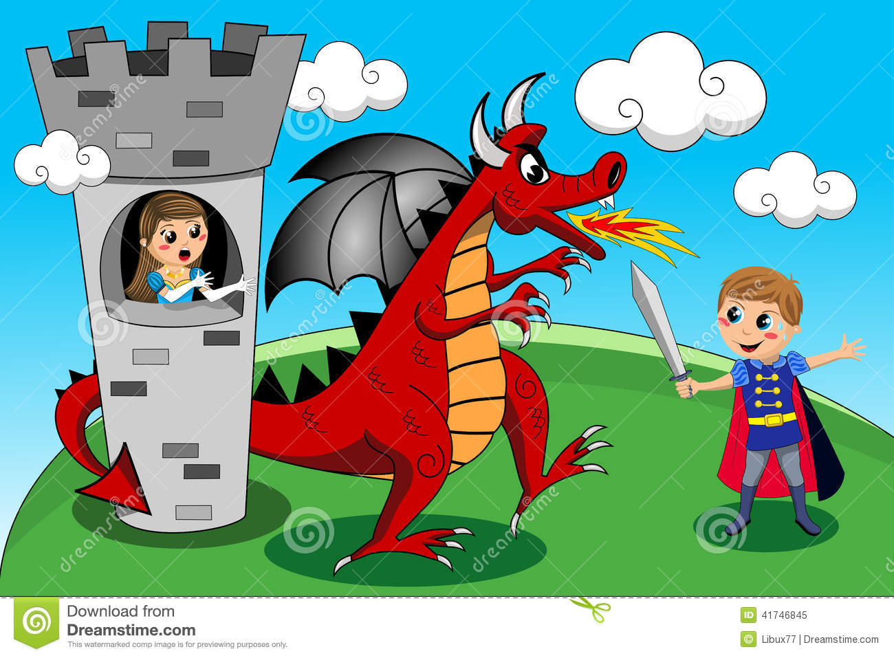 Knight clipart saves princess Kids Photo Princess Clipart Dragon
