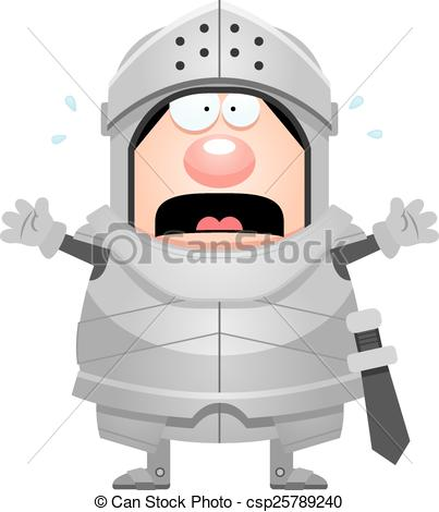 Knight clipart scared Cartoon A of of Scared